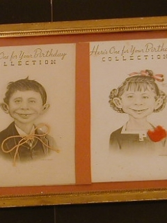 Go to Birthday Cards Pre-MAD Alfred E. Neuman & Girl Friend • USA