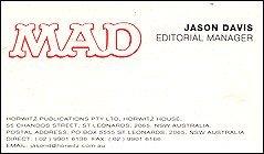 "Business Card ""Jason Davis"" • Australia"