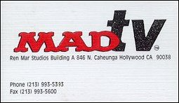 'MAD TV' Show - Business Card • USA