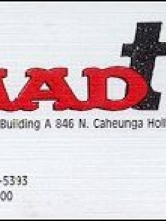 "Go to Business Card ""MAD TV"""