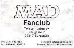 "Business Card ""MAD Fan Club"" • Germany"