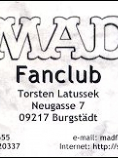 "Go to Business Card ""MAD Fan Club"""