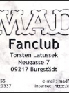 "Image of Business Card ""MAD Fan Club"""