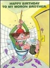 "Image of Greeting Card 'Birthday': ""Boy in Toilet"" by Tom Bunk"