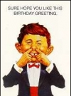 "Image of Greeting Card 'Birthday': ""Alfred Picking Nose"" by Richard Williams"