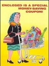 "Image of Greeting Card 'Birthday': ""Woman with Shopping Cart"" by Dave Berg"