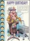"Image of Greeting Card 'Birthday': ""Lady with shopping cart"" by Jack Davis"
