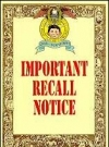 "Image of Greeting Card 'Birthday': ""Important Recall Notice"""