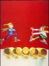 "Image of Greeting Card 'Christmas': ""Alfred jumping Barrels"" by Kelly Freas"