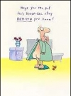 "Image of Greeting Card 'Get Well': ""Man in Hospital"" by Duck Edwing"