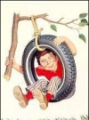 "Image of Greeting Card 'Hang in There': ""Alfred in Tire"" by Norman Mingo"