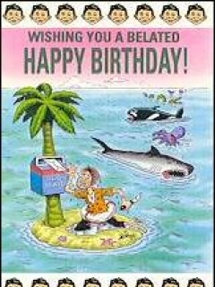 Go to Greeting Card MAD 'Belated birthday' • USA