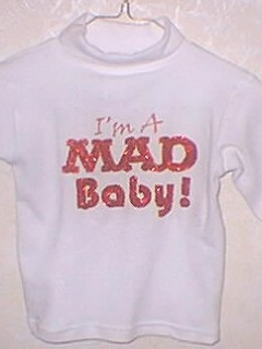 Go to Sweat Shirt Children's 'MAD Baby' • USA