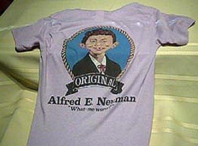 T-Shirt Shaved Alfred E. Neuman Short Sleeve 'Original' • USA