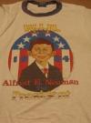 Image of Alfred E. Neuman For President Campaign Kit T-Shirt - Blue Ringer Version