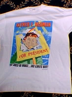 Go to T-Shirt 'Alfred E. Neuman for President' 1992