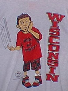 Go to University T-Shirt 'Wisconsin University' with Alfred E. Neuman • USA
