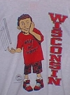 Image of University T-Shirt 'Wisconsin University' with Alfred E. Neuman