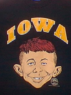 Go to University T-Shirt 'Iowa State University' with Alfred E. Neuman