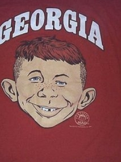 Go to University T-Shirt 'Georgia University' with Alfred E. Neuman • USA