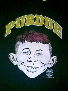 Go to University T-Shirt 'Purdue University' with Alfred E. Neuman