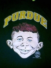 Image of University T-Shirt 'Purdue University' with Alfred E. Neuman