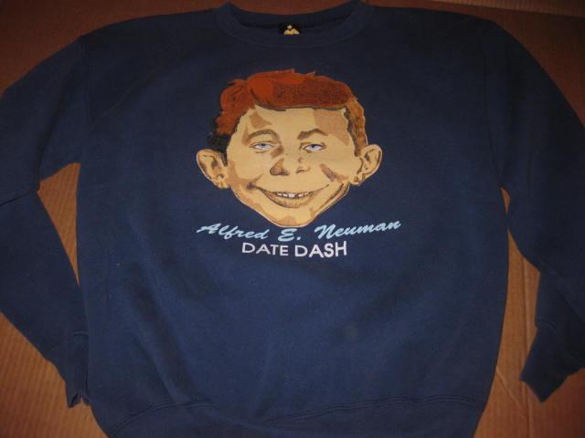 "Sweat Shirt Phi Delta Theta Fraternity ""Date Dash"" w/ Alfred E. Neuman • USA"