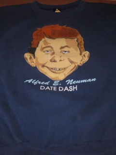 "Go to Sweat Shirt Phi Delta Theta Fraternity ""Date Dash"" w/ Alfred E. Neuman • USA"