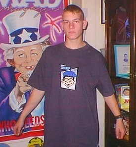 T-Shirt 'Alfred E. Neuman Flip Skateboard', black • USA