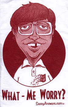 T-Shirt 'Alfred E. Neuman What Me Worry?' Bill Gates Spoof #2 • USA