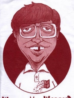 Go to T-Shirt 'Alfred E. Neuman What Me Worry?' Bill Gates Spoof #2