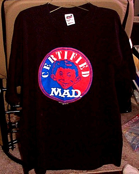 T-Shirt MAD Magazine Logo Black 'Certified MAD' • USA