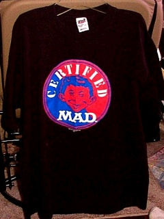 Go to T-Shirt MAD Magazine Logo Black 'Certified MAD'