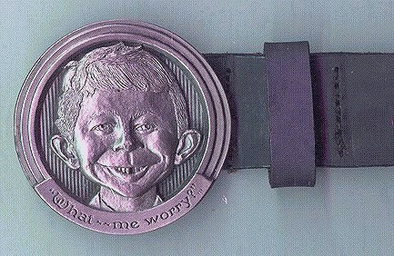 Belt and Buckle Alfred E. Neuman (Warner Store) • USA