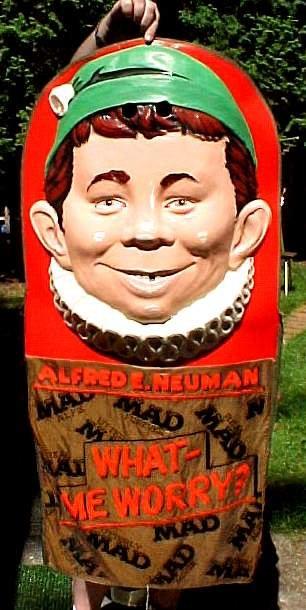 Costume Alfred E. Neuman Halloween Mardi Gras • USA