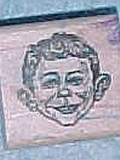 Go to Stamp Wooden Alfred E. Neuman • USA