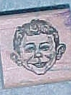 Image of Stamp Wooden Alfred E. Neuman
