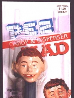 Go to PEZ Dispensers Alfred E. Neuman and Spy vs Spy #1