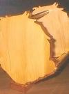 Wooden Basket Alfred E. Neuman Silhouette