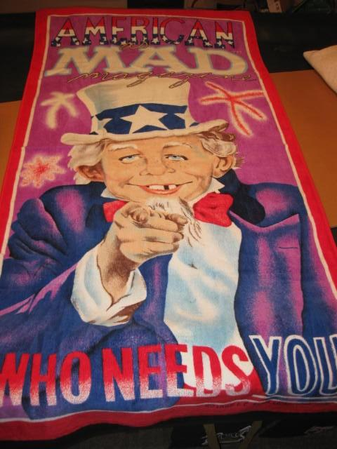 Beach Towel Alfred E. Neuman - Uncle Sam - Who Needs You • USA