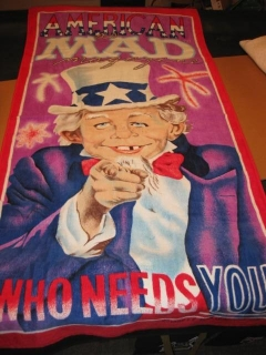 Go to Beach Towel Alfred E. Neuman - Uncle Sam - Who Needs You • USA