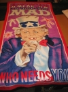 Image of Beach Towel Alfred E. Neuman - Uncle Sam - Who Needs You