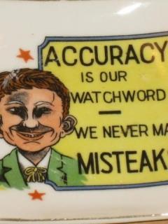 "Go to Ashtray Pre-MAD Alfred E. Neuman ""We Never Make Misteaks"""