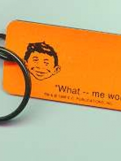 Go to Key Chain 'Certified MAD', orange • USA