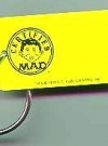 Image of Key Chain 'Certified MAD', yellow