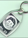 Image of Keychain Alfred E. Neuman face 'No. 25'