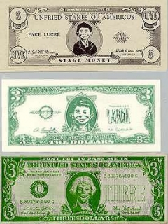 Go to Money Bills with Alfred E.Neuman face • USA