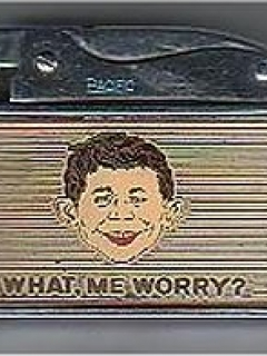 Go to Lighter 'What Me Worry' with Alfred E.Neuman face • Australia