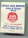 Image of Matchbook Cover 'Little Jack Horner'
