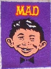 Image of Rug Folk Art with Alfred E. Neuman face